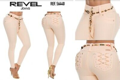 REVEL,Jeans Colombianos, Authentic Colombian Push Up Jeans, USA Size 9