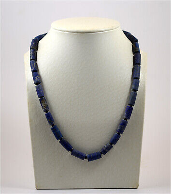 A necklace of ancient Roman lapis lazuli beads