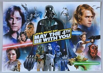 Star Wars Day May The 4Th Be With You A3 Mini-Poster