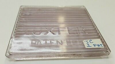 Signed Luxfer Glass Window Tile Frank Lloyd Wright Architectural PATENTED