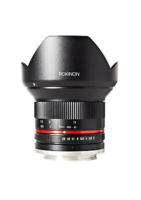 Rokinon RK12M-M 12mm F2.0 NCS CS Ultra Wide Angle Fixed Lens for Canon EF-M M...