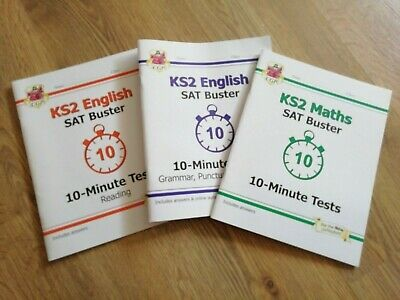 KS2 Maths and English SAT Buster Books Collection Set By CGP Books