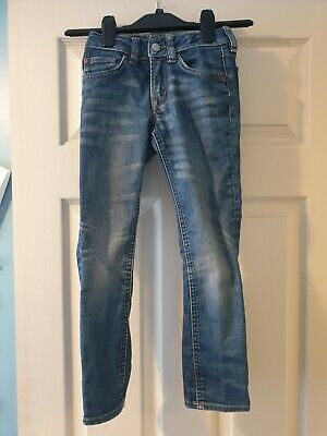Boys H&M blue jeans, narrow waist, slim leg, age 6-7 years. VGC