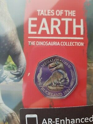1st ever Dinosaur Megalosaurus 2020 50p  struck Royal Mint. Colour bunc coin