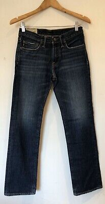 Boys Jeans Age 14 Abercrombie & Fitch Straight Cut Blue <SW5664