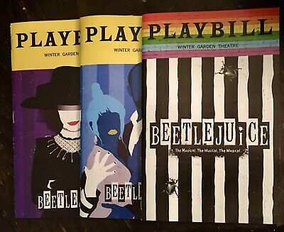 SPECIAL Beetlejuice Broadway Musical Playbills Set Pride, January, & February!