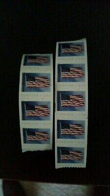 20 Forever Stamps, small strips