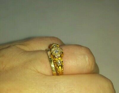 FINE EARLY 20TH CENTURY EDWARDIAN 18ct gold diamond set antique ring
