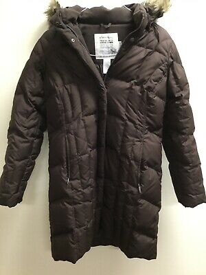 WOMEN'S GUESS SILVER Down Puffer Jacket With Detachable Hood