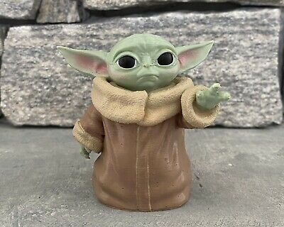 """Baby Yoda Figure 3"""" The Child Figurine 3D Printed And Painted"""