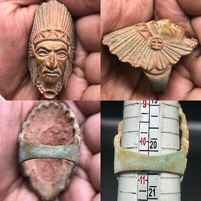 Old wonderful Unique Bronze face Stunning Ring