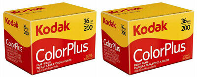 2 x rolls KODAK COLORPLUS 200 35mm Film 36exp CAMERA LOMOGRAPHY (UK Stock) BNIB