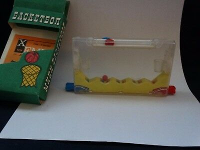 vintage mini plastic toy basketball game for two MADE IN BULGARIA 1984 year