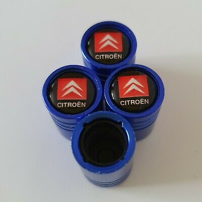 CITROEN BLUE DUST VALVE CAPS 13 colours NON STICK for all Models
