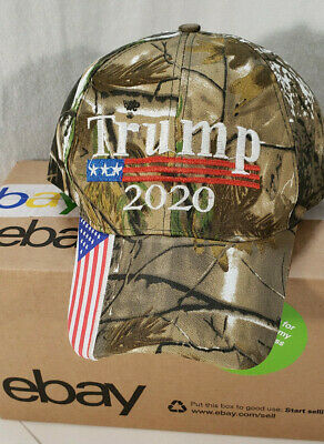 ⭐ Trump 2020 ⭐ Hat Camouflage Embroidered Keep America Great Cap USA Flag MAGA