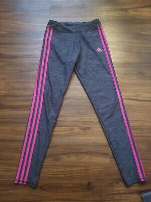 Adidas Leggings Girls Youth Large  Size 14 Gray