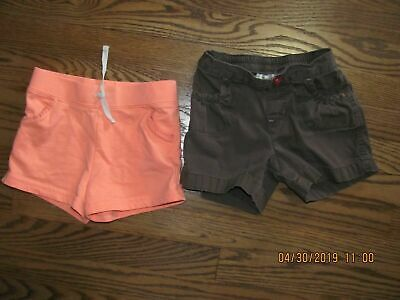 2 Girls Shorts: Brown Size 6X Jumping Beans & Light Orange Size 6 Carters