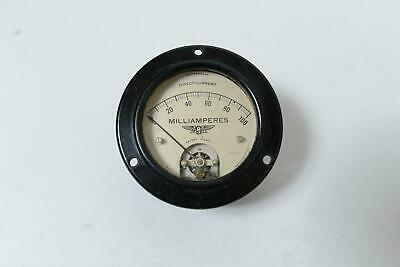 Milliamperes Gauge 0-100 Jewell Electrical Instrument Co. #88