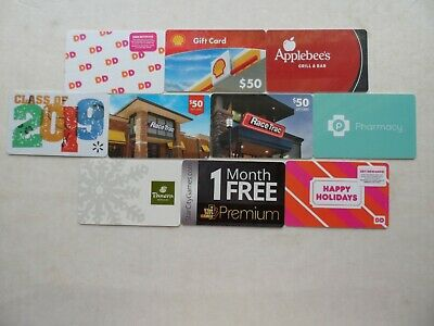"""Lot Of 10 Different """"Collectible Only"""" Gift Cards (#2)"""