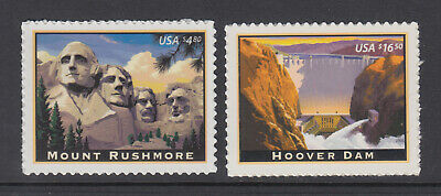 #4268 - 4269 Mount Rushmore & Hoover Dam Priority and Express Mail Set MNH 2008