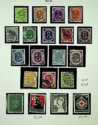 Germany 1951-53 Posthorn Red Cross Museum Etc Mixed Fine Used Collection - K4589