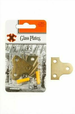 Frank Shaw X Hooks Pictures Hooks Brassed Plated Glass / Frame Plates 40mm 2/PK