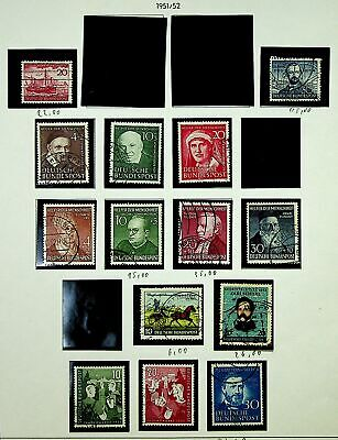 Germany 1951-52 Famous People Ship Horse Etc Mixed Fine Used Collection - K4588