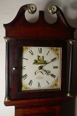 "Antique   Oak  "" Tiverton "" Longcase / Grandfather  Clock"