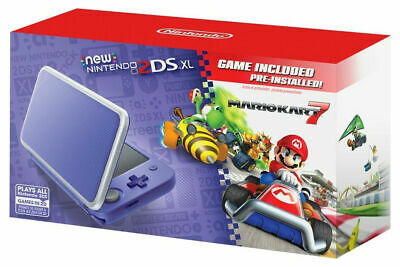 Nintendo 2DS XL Mario Kart 7 Console Bundle - Purple/Silver