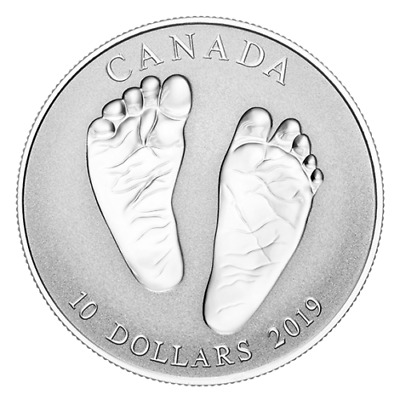 2019 CANADA Welcome to The World Born Baby Gift $10 Pure Silver Coin
