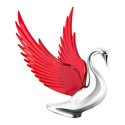 Chrome Bugler Hood Ornament With Red Illuminated Wings