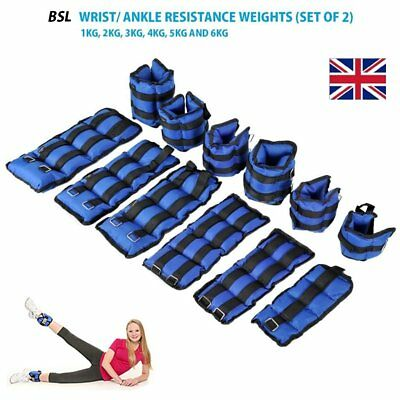 Resistant Ankle Wrist Weights Adjustable Strength Train Exercise 1 2 3 4 5 6 Kg