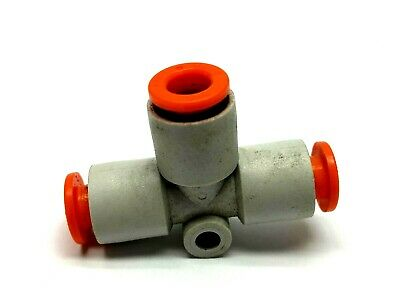 """SMC 1/4"""" Quick Connect Tee Pneumatic Fitting"""