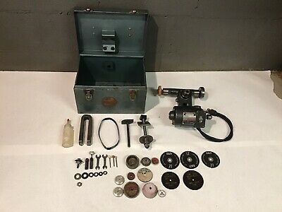 Dumore 11011 11-011 Lathe Tool Post Grinder Tested Runs Great. 1/5HP Free Ship.