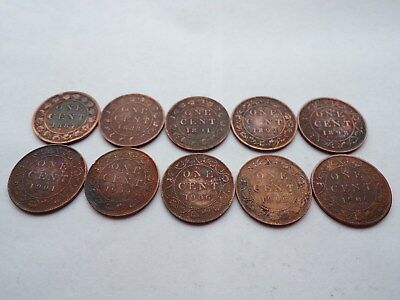 1887 - 1906 Canada Large Cent coins