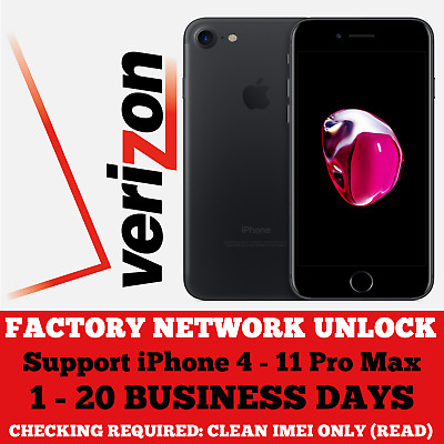 Verizon iPhone Network Unlocking Service 1-20 Days (Clean ONLY) READ!