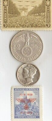 -*antique *WW2-SILVER(.900%+.625%)-*us and *german coins/STAMPS
