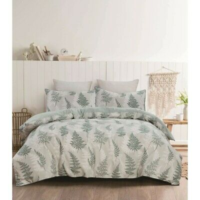 House & Home Quilt Cover Set - Fern