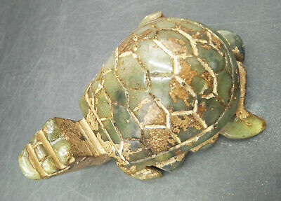 Exquisite Chinese old carved jade  turtle WM469