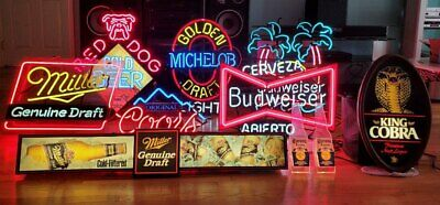 Antique Bar Neon Signs FUN (Selling all 4 signs together)!