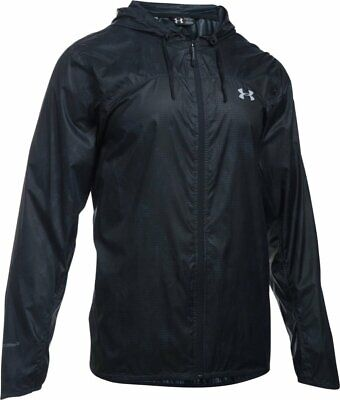 Under Armour UA Storm Leeward Light Windbreaker Rain Jacket Black NEW Men's XL