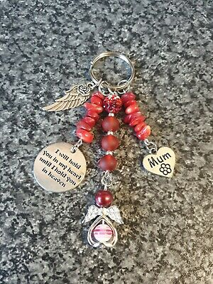 In Loving Memory Keyring. I Will Hold You In My Heart/ Heaven Mum Gemstone Gift