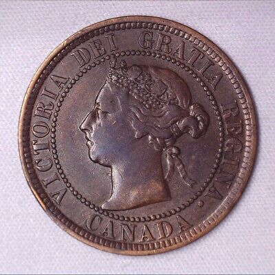 1884 CANADA Large Cent - 1 penny coin