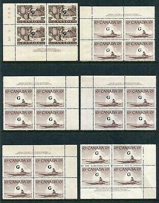 CANADA - 6 NH PLBLKs - Collection Remainder - (gr.306)