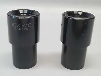 American Optical 10X W.F Eyepieces 176 -Square Reticle