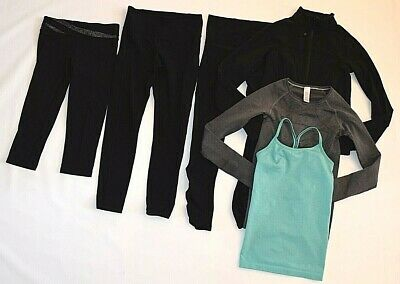 IVIVVA Black Leggings + Tops + Activewear Jacket Youth Girls 8 Miscellaneous Lot