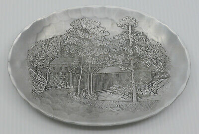 VINTAGE WENDELL AUGUST FORGE HAND HAMMERED ALUMINUM TRAY, McCONNELL'S MILL PARK