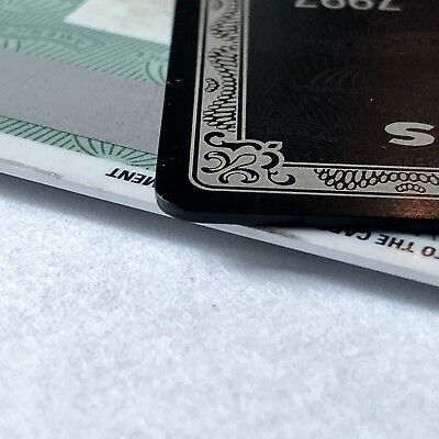 NOVELTY collectible black card made from titanium blackcard
