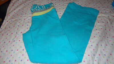 EUC TEAL BLUE Girls Old Navy YOGA PLAYTIME SWEATPANTS Soft Size 6/7