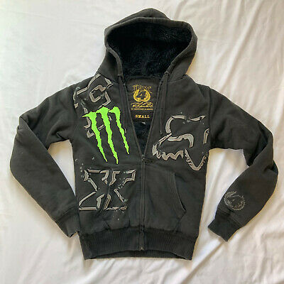 FOX RACING BLACK Monster Energy Pro Circuit Union Zip Fleece